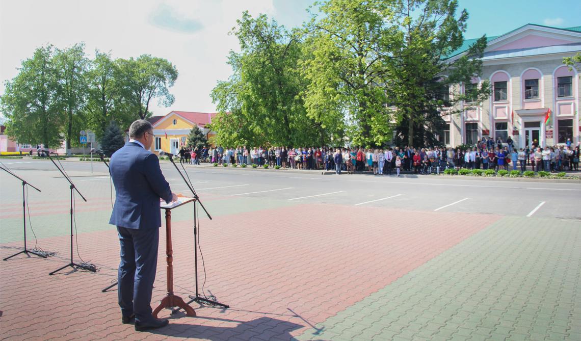 Фоторепортаж с празднования Дня Государственного герба и Государственного флага Республики Беларусь в Каменце
