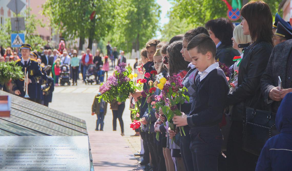 Фоторепортаж с празднования 9 мая в Каменце