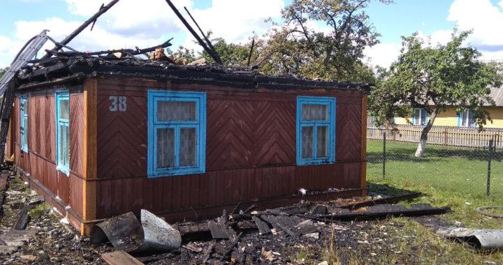 В Подбеле сгорел дом