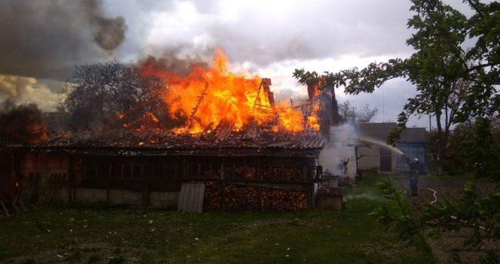 В Николаево горел сарай