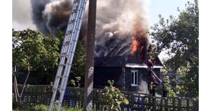 В Копылах горел жилой дом