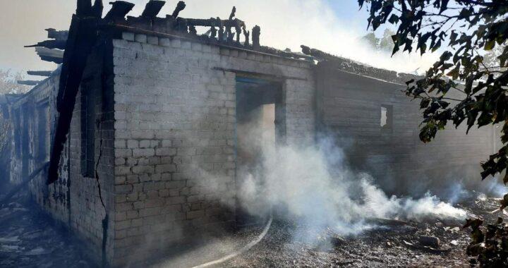 На пожаре в Ганцевичах погиб мужчина