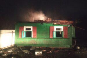 В Олешковичах горел жилой дом