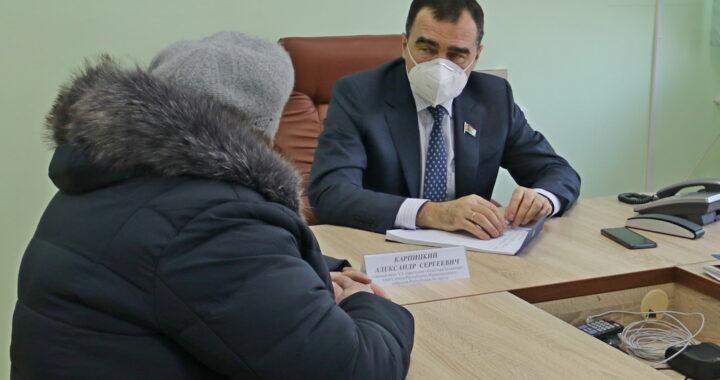 Александр Карпицкий провел в Каменце личный прием граждан и «прямую телефонную линию»