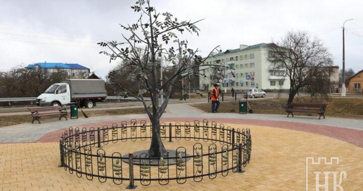 В Каменце установлен первый памятник грецкому ореху в Беларуси