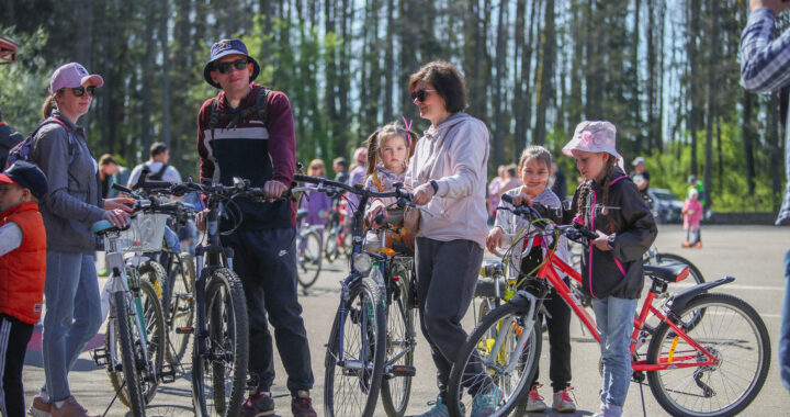 В пуще стартовал велопробег, посвящённый Дню Победы