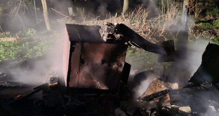 В Больших Муринах сгорела баня