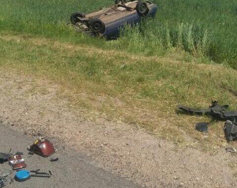 Машина вылетела в кювет недалеко от Грушевки (Каменецкий район)